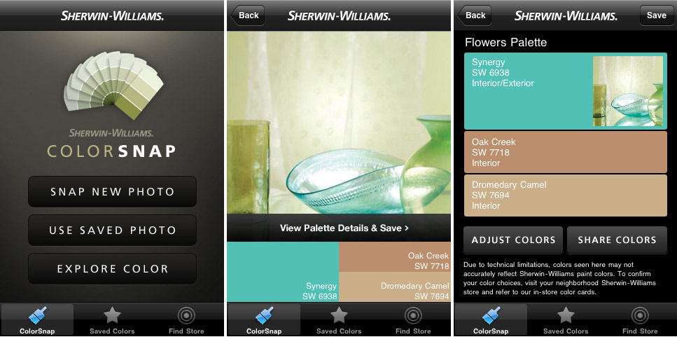 Sherwin williams lips hips and fashion tips for Paint color matching app