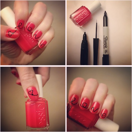 Sharpie Nail Art Lips Hips And Fashion Tips