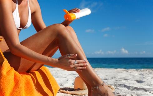 sunblock and legs
