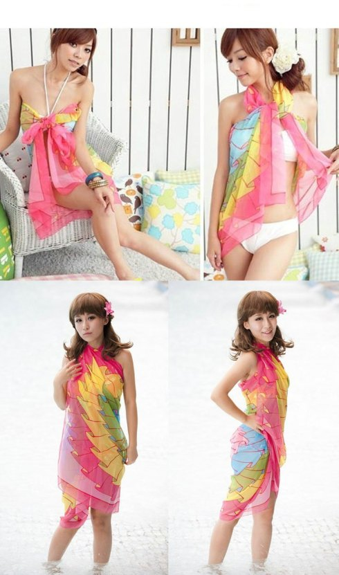 DHL-Free-Wholesale-Gorgeous-Chiffon-Sarong-yellow-beach-cover-ups-bathing-suits-cover-ups-swim-skirt