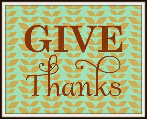 Give Thanks 8x10 Sample